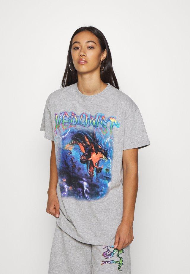HEDONIST TEE - T-shirts med print - grey