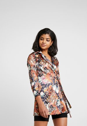 PHOENIX DRAGON PRINT WRAP - Cappotto corto - multi