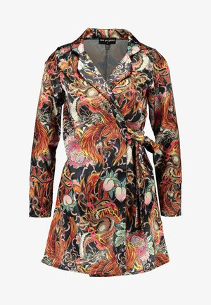 PHOENIX DRAGON PRINT WRAP - Manteau court - multi