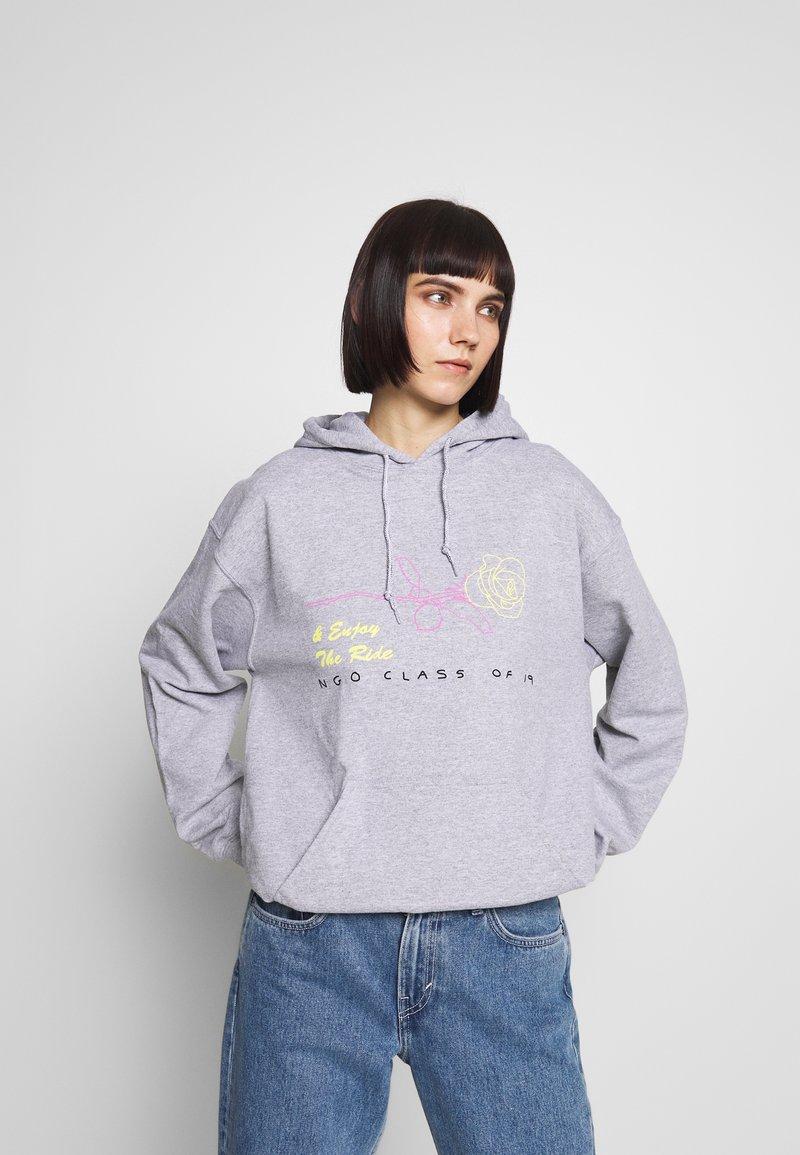 NEW girl ORDER - SKELETON HOODIE - Sweat à capuche - grey