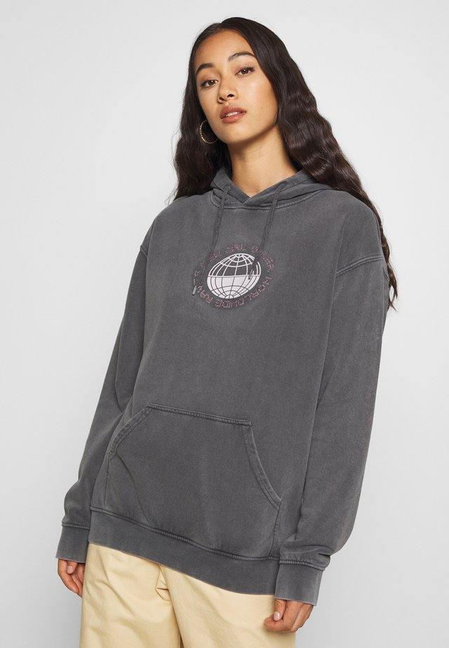PLANET WASHED HOODY - Bluza z kapturem - grey