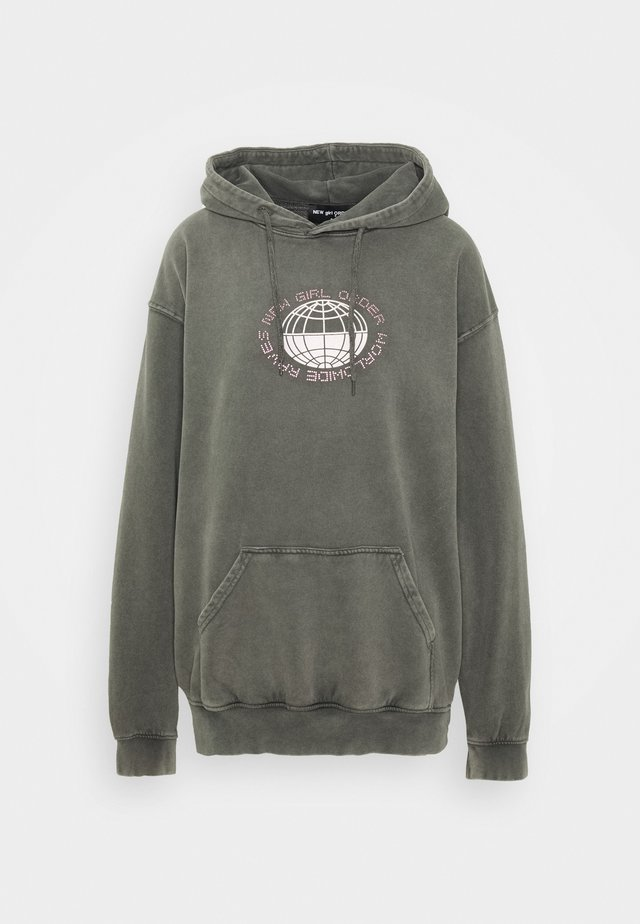 PLANET WASHED HOODY - Mikina skapucí - grey