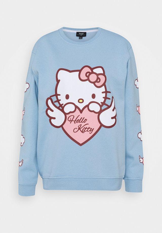 HELLO  HEART SWEAT - Sweatshirt - blue