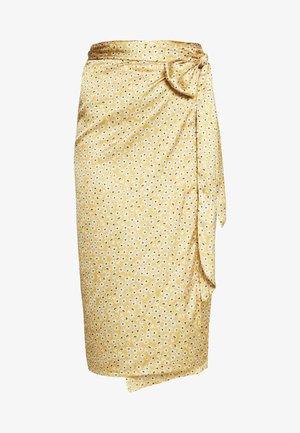JASPRE DITSY PRINT SKIRT - Wrap skirt - gold