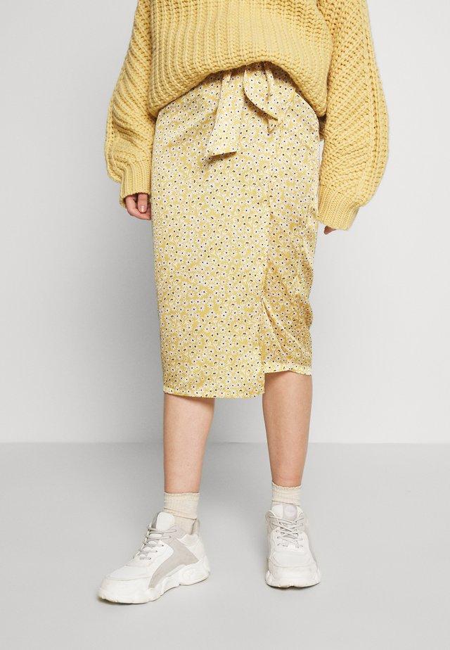 JASPRE DITSY PRINT SKIRT - Spódnica z zakładką - gold