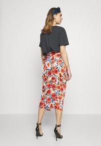 Never Fully Dressed - JASPRE DITSY PRINT SKIRT - Wrap skirt - orange - 2