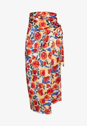 JASPRE DITSY PRINT SKIRT - Wrap skirt - orange