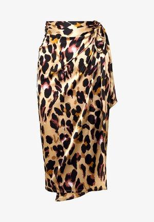 JASPRE DITSY PRINT SKIRT - Spódnica z zakładką - brown