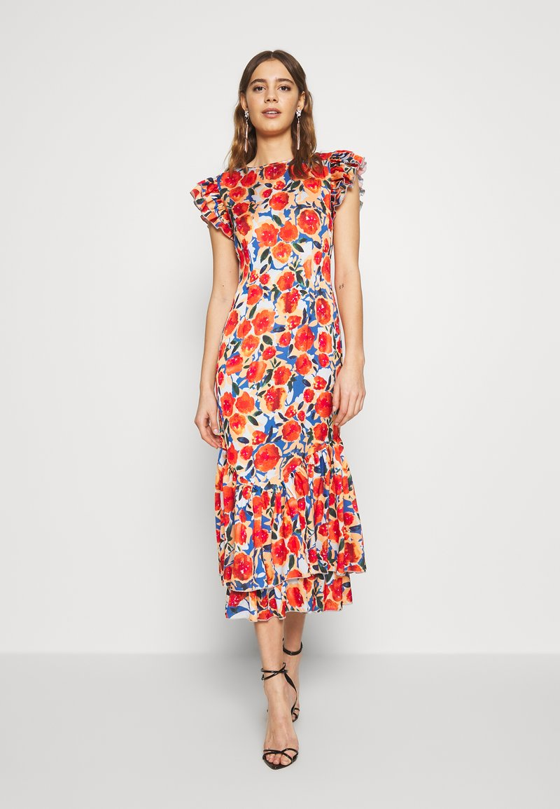 Never Fully Dressed - FRIDA FLORAL DRESS - Kjole - orange