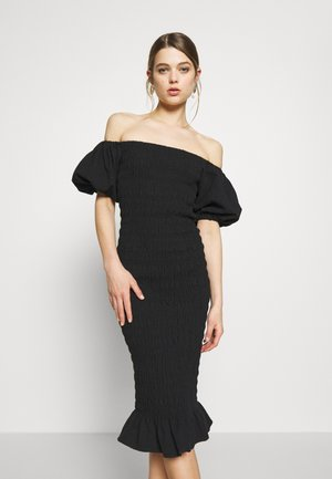 JOJO BLACK MIDI DRESS - Shift dress - black