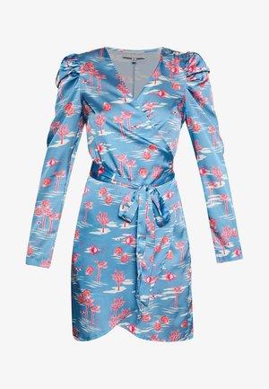 MINI BAHAMA WRAP DRESS - Vestito estivo - blue