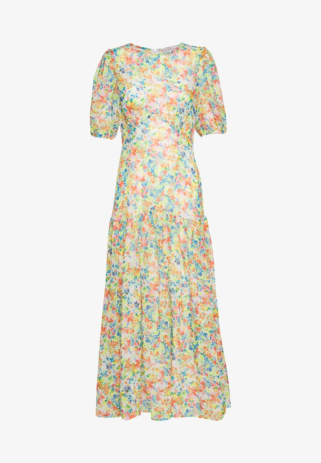 PASTEL LUCIA SHEER DRESS - Długa sukienka - multicolor