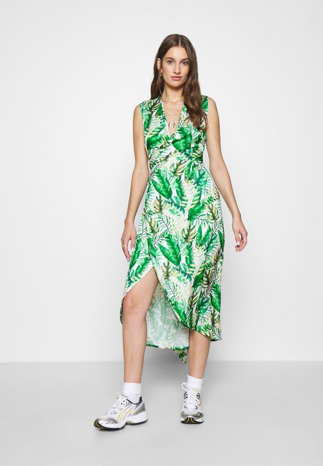 PALM WRAP MIDI DRESS - Robe de soirée - green