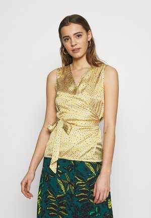 WRAP TOP - Blouse - gold