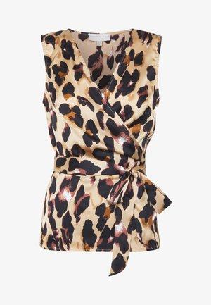 WRAP TOP - Blusa - leopard