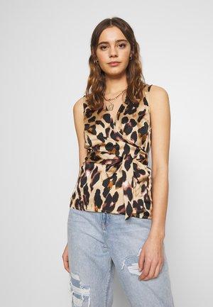 WRAP TOP - Blouse - leopard