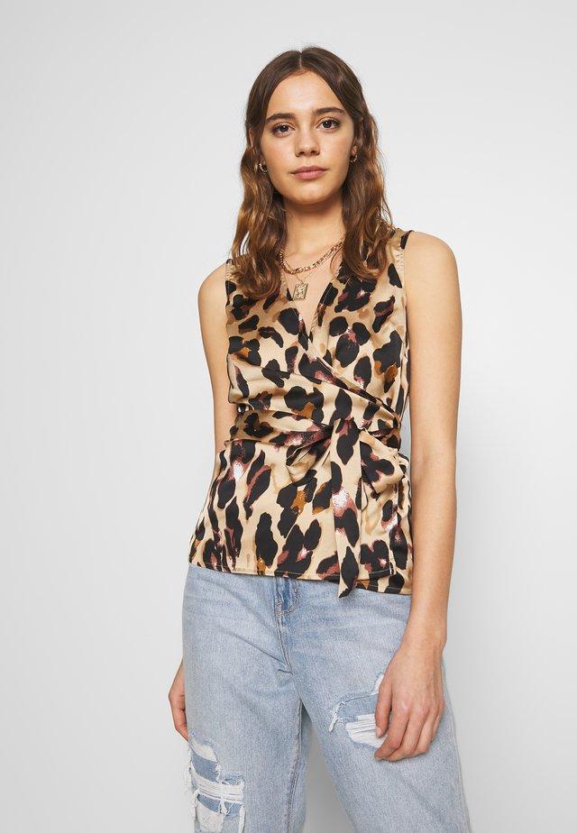 WRAP TOP - Bluzka - leopard
