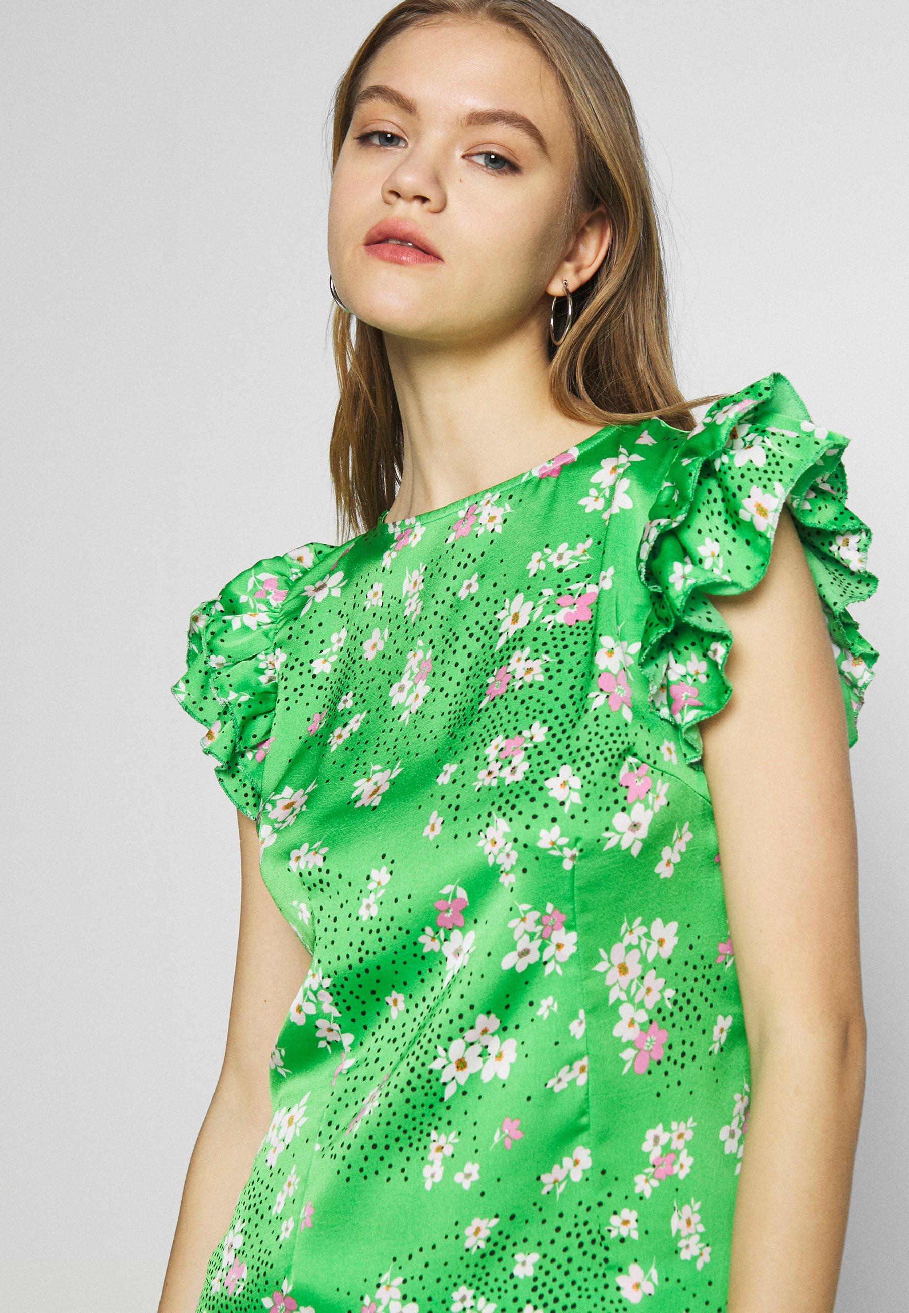 Never Fully Dressed BLOSSOM FRILL - Bluzka - green