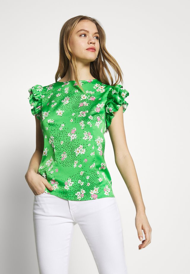 BLOSSOM FRILL - Blouse - green