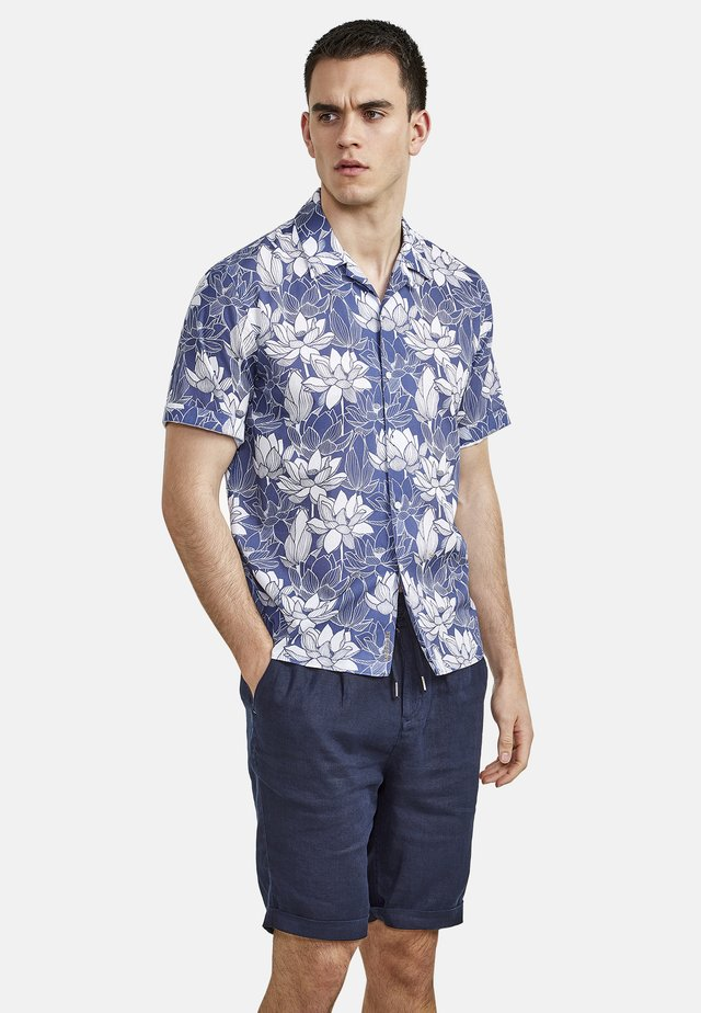 MIT LOTUSBLÜTENPRINT - Shirt - blue