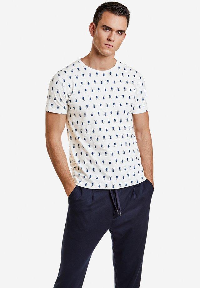 MIT INSEKTENPRINT - Print T-shirt - broken white