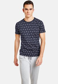 NEW IN TOWN - MIT INSEKTENPRINT - Print T-shirt - night blue - 0