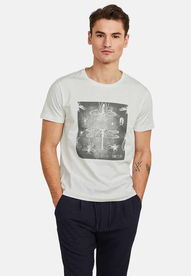 MIT GRAFIKPRINT - Print T-shirt - broken white