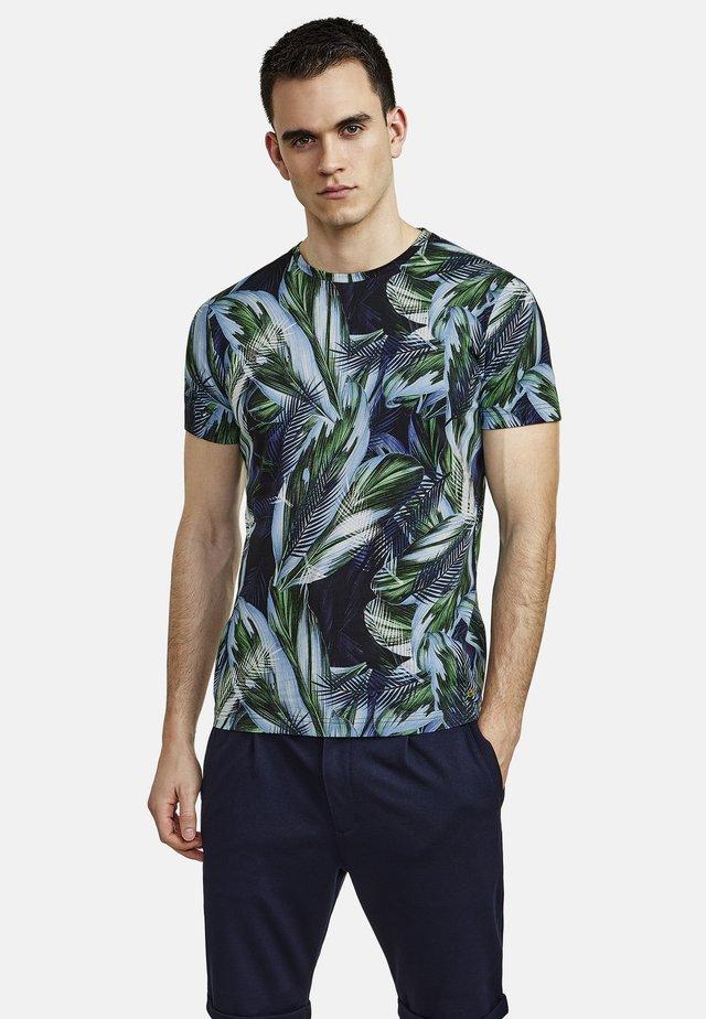 FLORAL - Print T-shirt - green