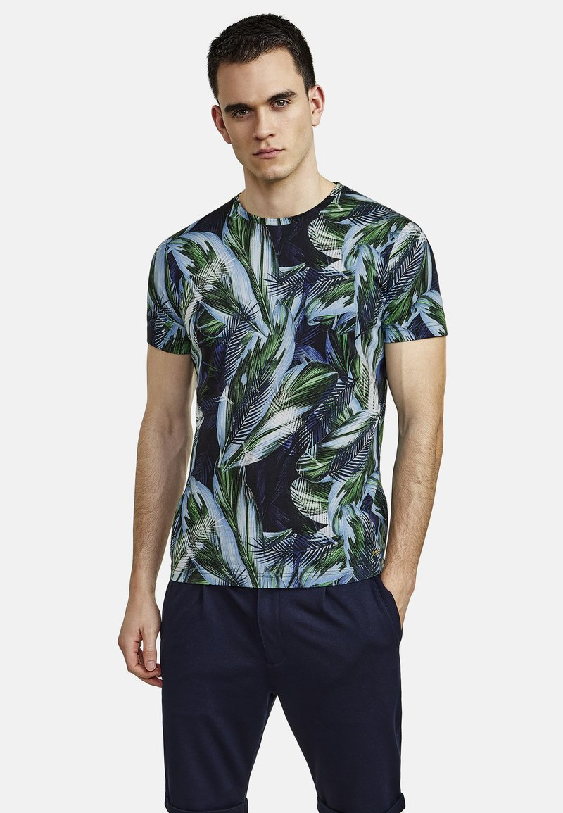 NEW IN TOWN - FLORAL - Print T-shirt - green