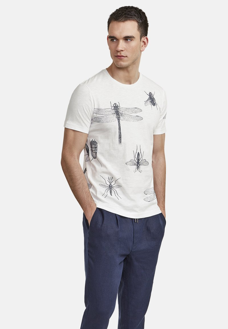 NEW IN TOWN - INSECTS - Print T-shirt - broken white
