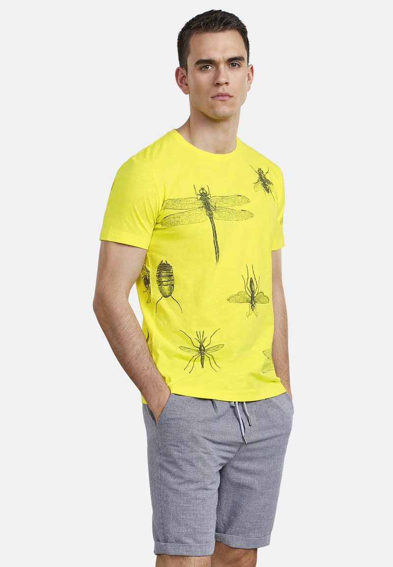 NEW IN TOWN - INSECTS - Print T-shirt - neon green