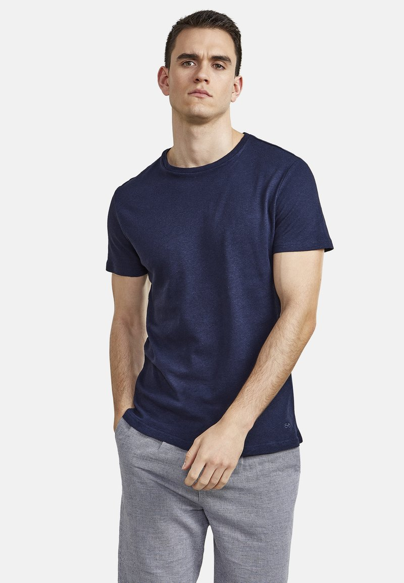 NEW IN TOWN - Basic T-shirt - night blue