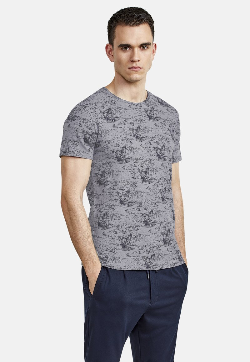 NEW IN TOWN - Print T-shirt - grey