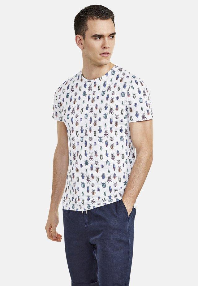 MIT ALLOVER-INSEKTENPRINT - Print T-shirt - broken white
