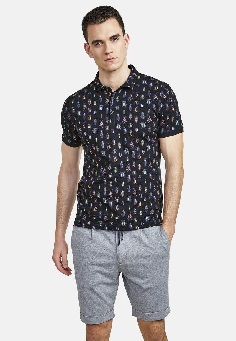 NEW IN TOWN - MIT ALLOVER-INSEKTENPRINT - Polo shirt - night blue