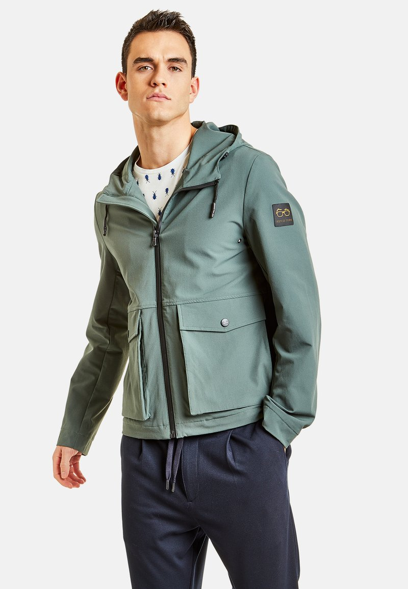 NEW IN TOWN - MIT KAPUZE - Summer jacket - green