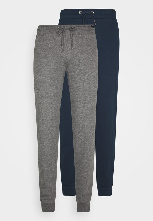 NEWPORT CORE 2 PACK - Tracksuit bottoms - blue/dark grey marl