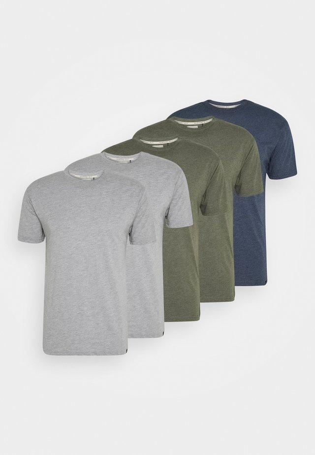 TEE 5 PACK - Basic T-shirt - mottled light grey
