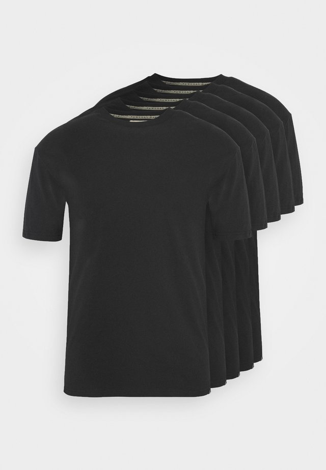 TEE 5 PACK - T-shirts - black