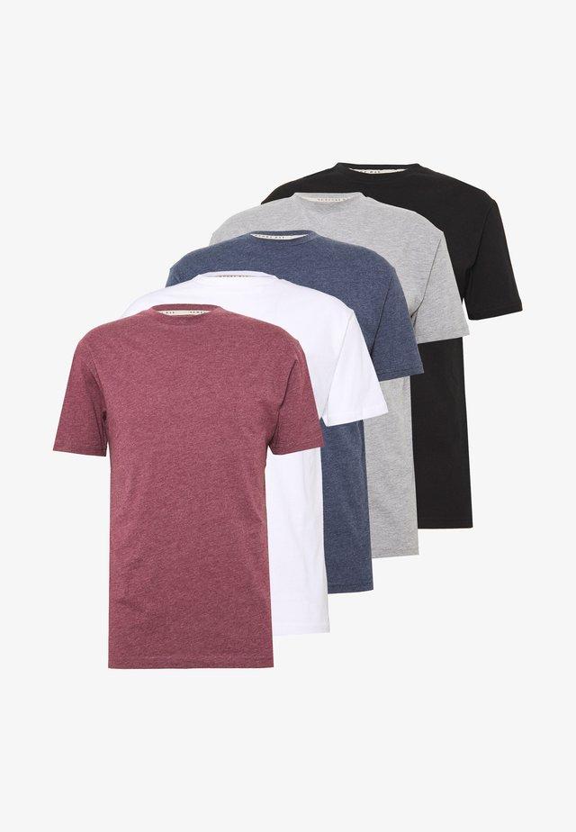 NEWPORT MULTI TEE 5 PACK - T-shirt basic - multi
