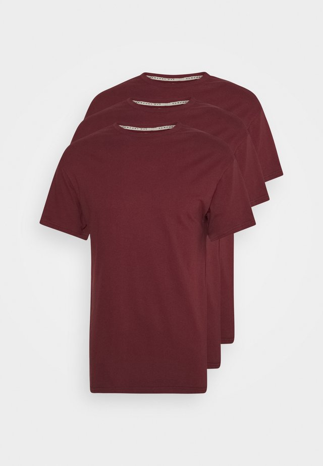 MULTI TEE AUTUMN 3 PACK - T-shirt basic - bordeaux