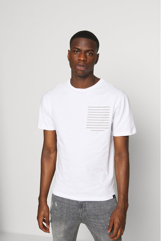 ROPE TEE - T-shirt imprimé - white/grey