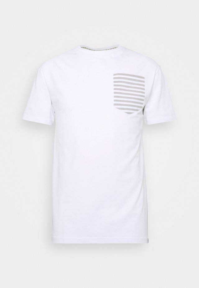 ROPE TEE - T-shirts print - white/grey