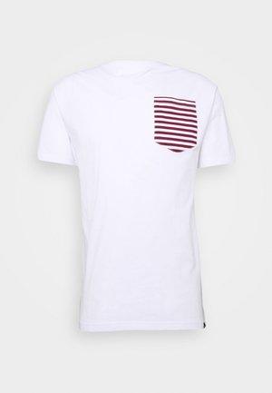 ROPE TEE - T-shirts med print - white/burgundy