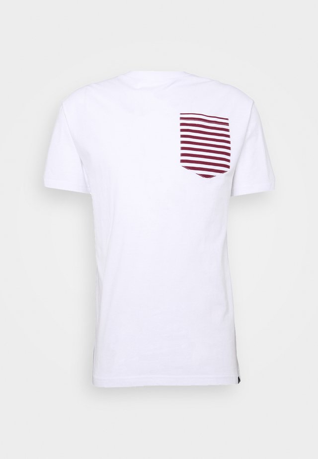 ROPE TEE - T-shirts print - white/burgundy