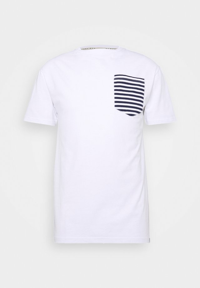 ROPE TEE - T-shirts print - white/navy