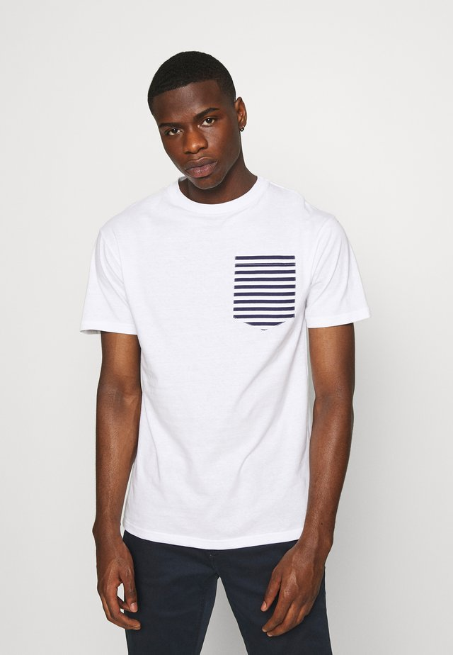 ROPE TEE - T-shirt imprimé - white/navy