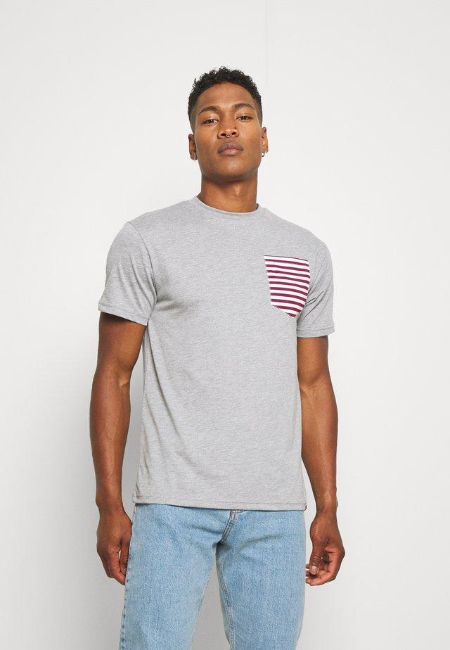 SAIL TEE - T-shirt print - grey marl