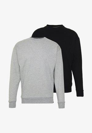NEWPORT CORE CREW 2 PACK - Bluza - black/grey marl
