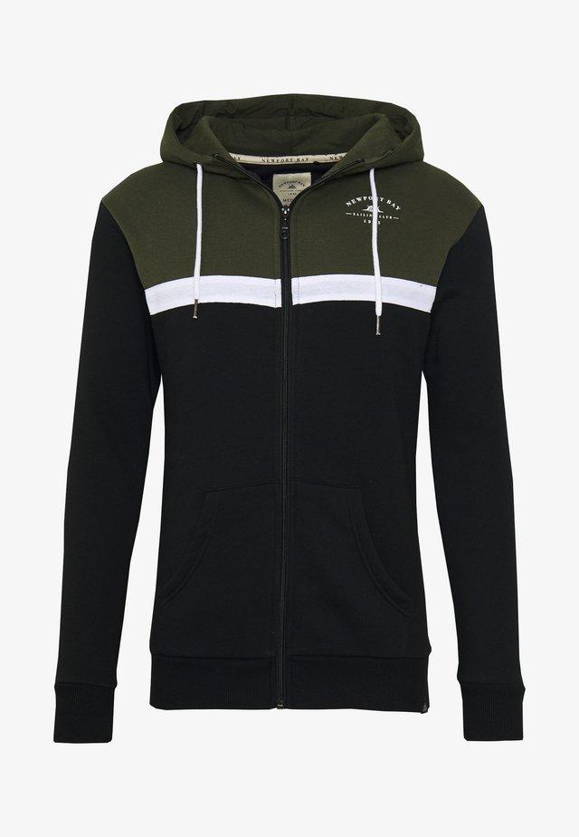 TACK HOOD - veste en sweat zippée - black